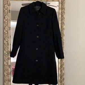 J CREW black lady day coat. Size 4